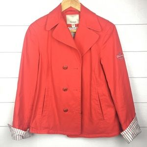 Façonnable red women's jacket size S sailor anchor